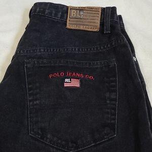 Ralph Lauren Black Polo Jeans Men's Size 33x30